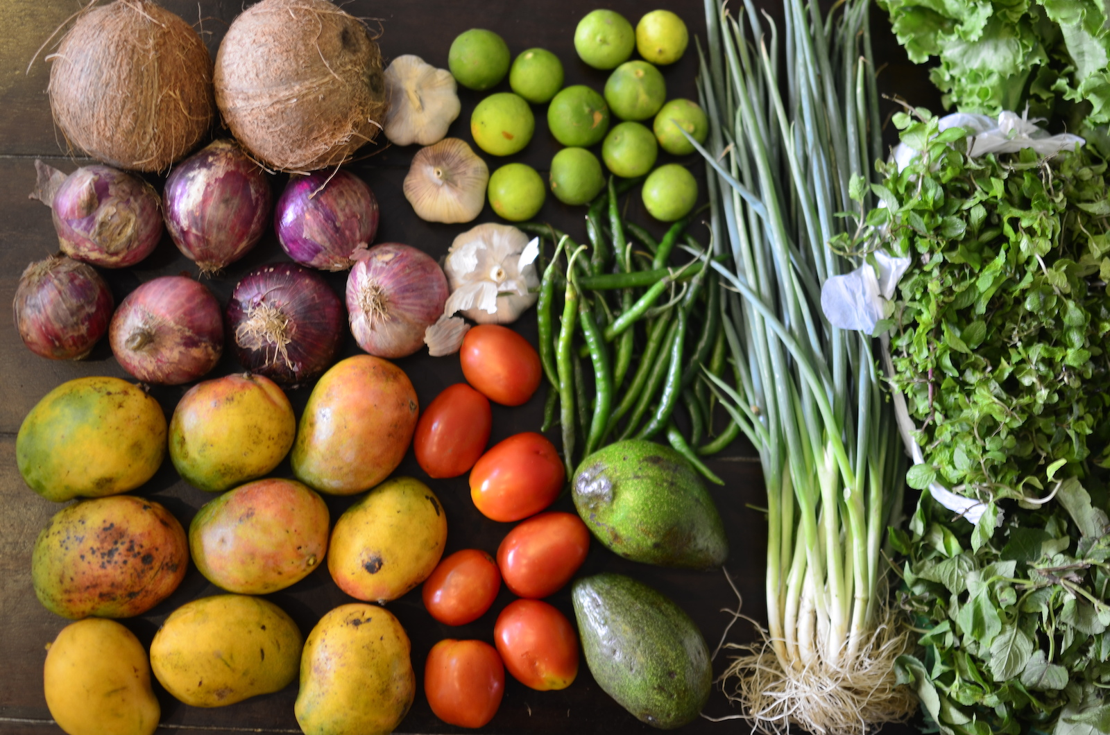 Fruits and vegetables from a Nigerian market