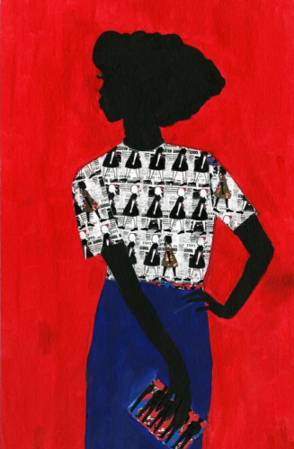 "work by Jamilla Okubo, ""Sista, The Alphabet is an Abolitionist"""