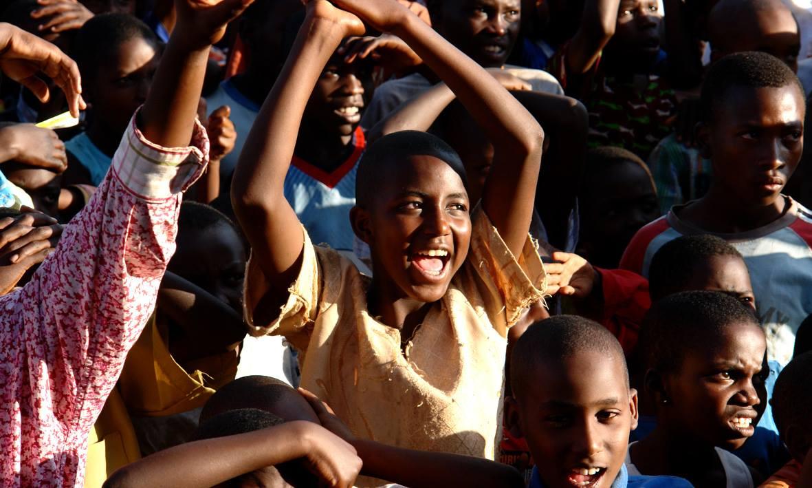 Rwandan youth enjoying Hillywood.