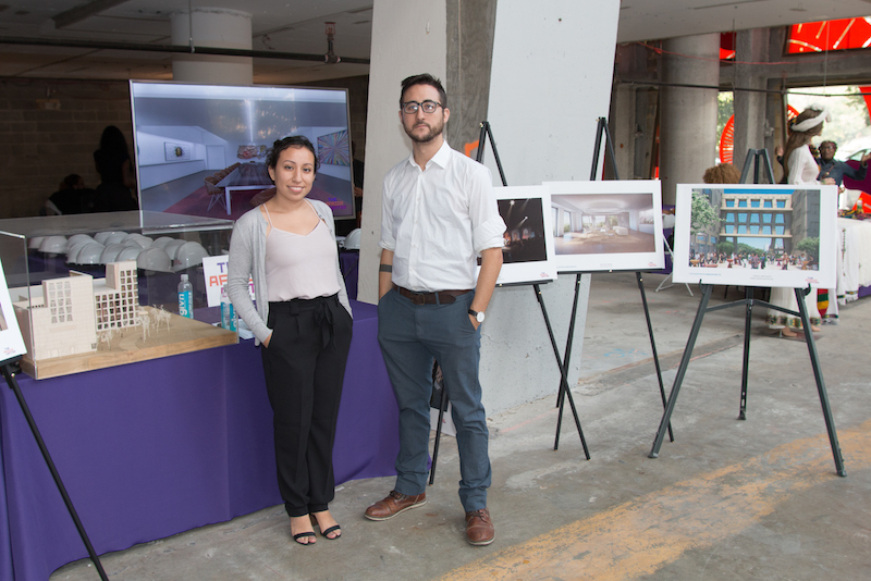Tiffany Urosa and Jethro Rebollar of Caples-Jefferson Architects