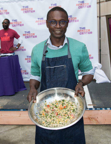 Chef Pierre Thiam with bowl of fonio