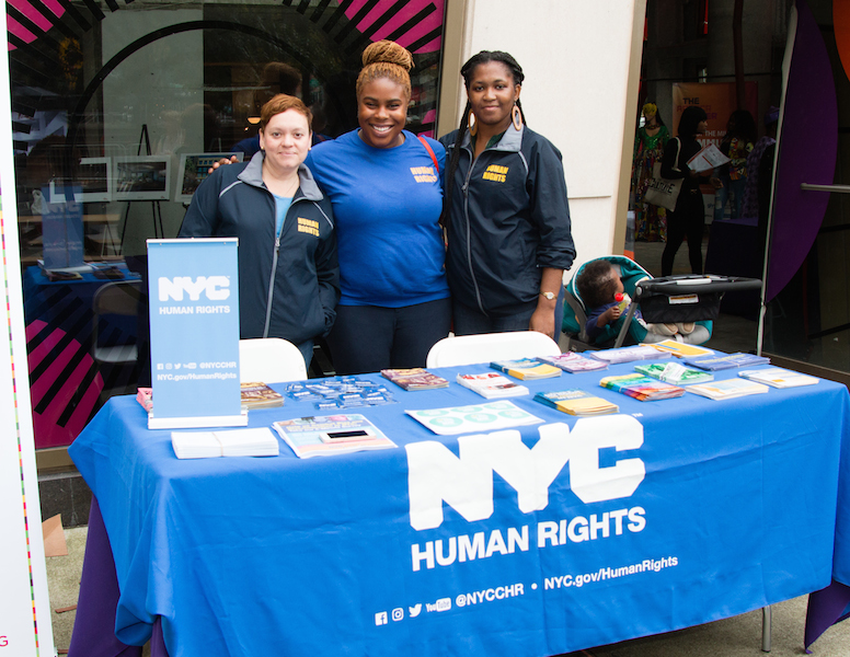 Representatives from the NYC Commission on Human Rights.