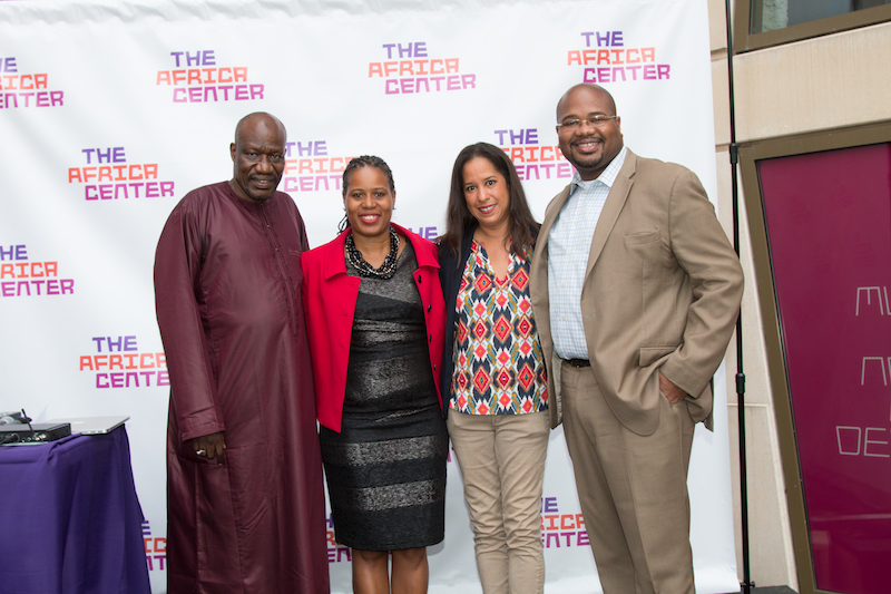 Alassane Diop, Athena Moore and Matthew Washington, all of the office of Gale A. Brewer, Manhattan Borough President, with The Africa Center's CEO Dana Reed