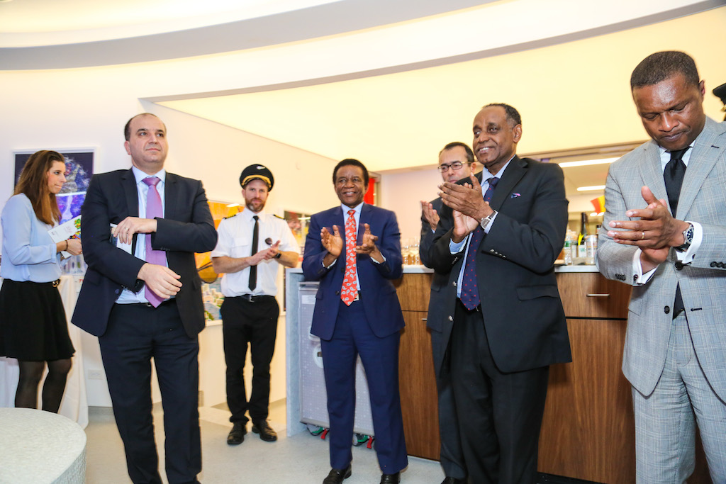 African UN Ambassadors applauding