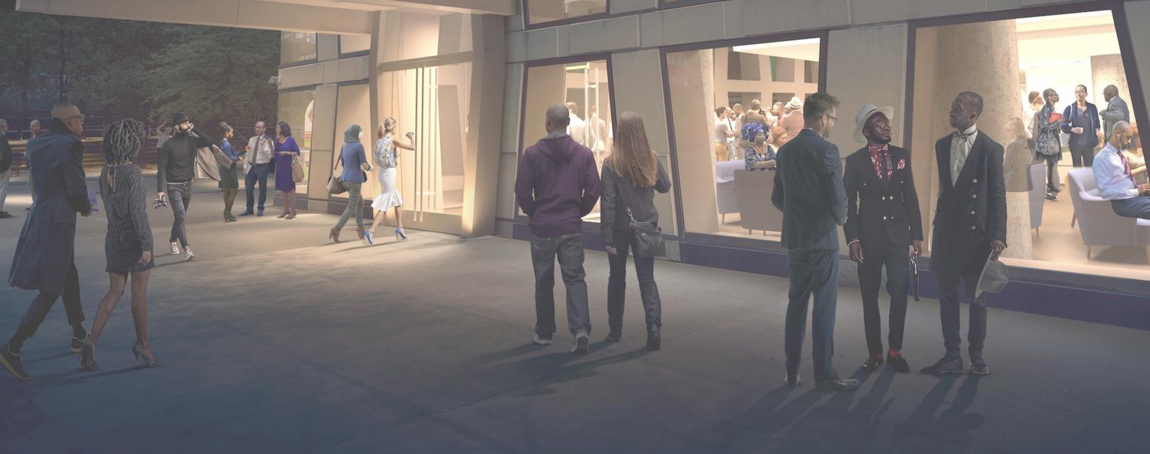 Cropped TAC entrance rendering
